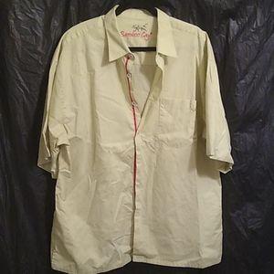 Bamboo Cay button up yellowish green  shirt 2xl